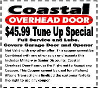 garage door tune up - coastal overhead door
