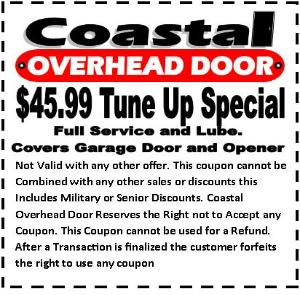Coastal Overhead Door Sales For Repairs And Replacements